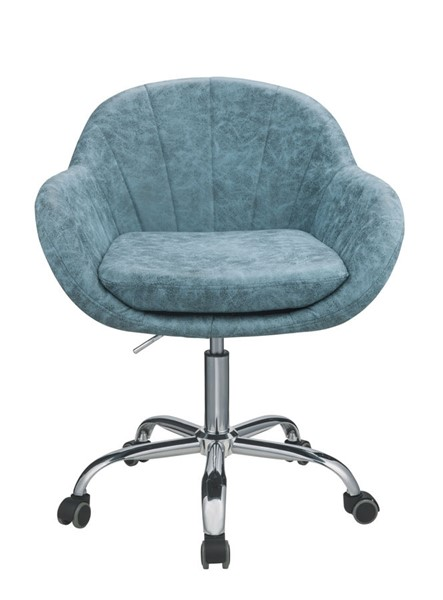 Acme Furniture Giolla Vintage Turquoise Chrome Office Chair ACM-92502