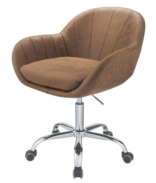 Acme Furniture Giolla Vintage Chocolate Chrome Office Chair ACM-92503