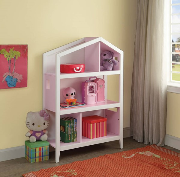Acme Furniture Doll Cottage Pink White Bookcases ACM-9256-BC-VAR
