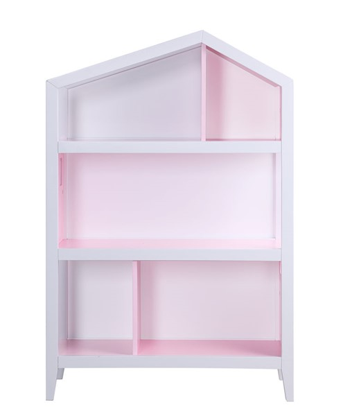 Acme Furniture Doll Cottage Pink White Bookshelf ACM-92560