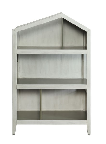 Acme Furniture Doll Cottage Weathered White Washed Gray Bookcase ACM-92561