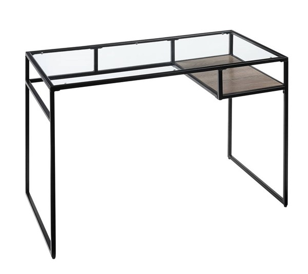 Acme Furniture Yasin Black Metal Glass Desks ACM-9258-ODSK-VAR