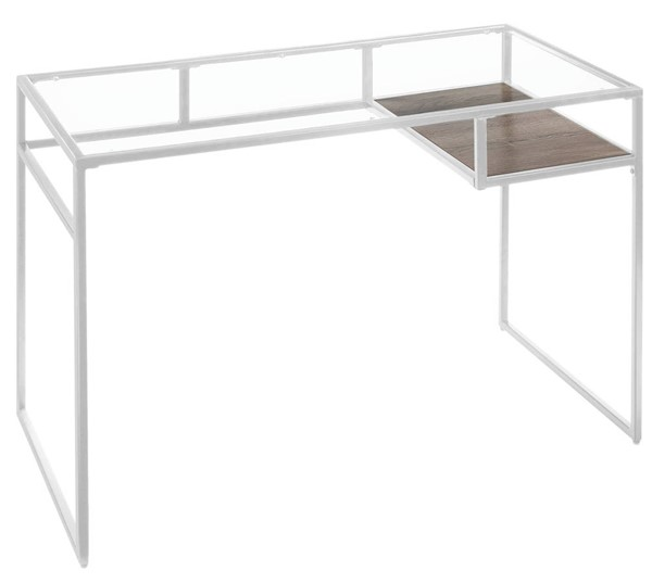 Acme Furniture Yasin White Metal Glass Desk ACM-92582