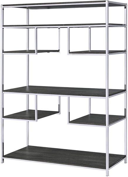 Acme Furniture Vonara Rustic Gray Oak Bookshelf ACM-92657
