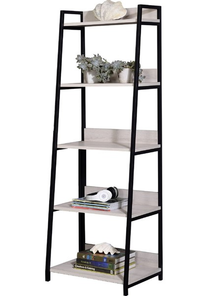 Acme Furniture Wendral Natural 23 Inch 5 Tier Bookshelf ACM-92674