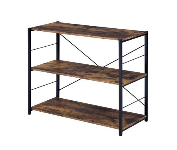 Acme Furniture Tesadea Weathered Oak 3 Shelves Bookshelf ACM-92770