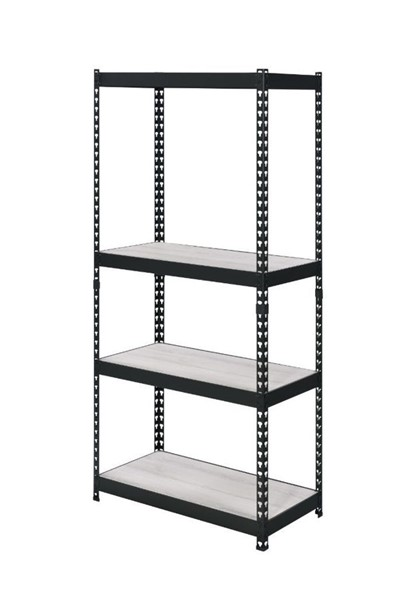 Acme Furniture Decmus Natural Black Metal Frame Bookshelf ACM-92780