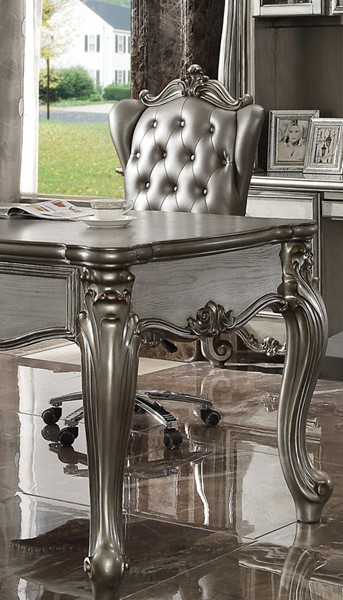 Acme Furniture Versailles Silver Antique Swivel and Lift Executive Chair ACM-92822