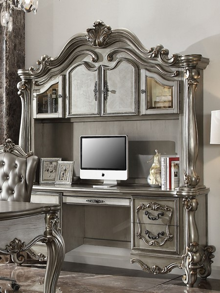Classy Computer Tables To Go With Living Room Decor: Acme Furniture Versailles Antique Computer Desk And Hutch