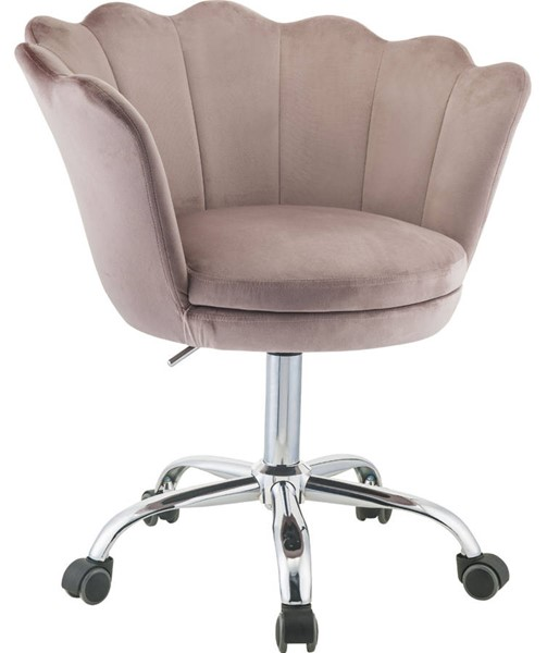 Acme Furniture Micco Rose Quartz Chrome Office Chair ACM-92938
