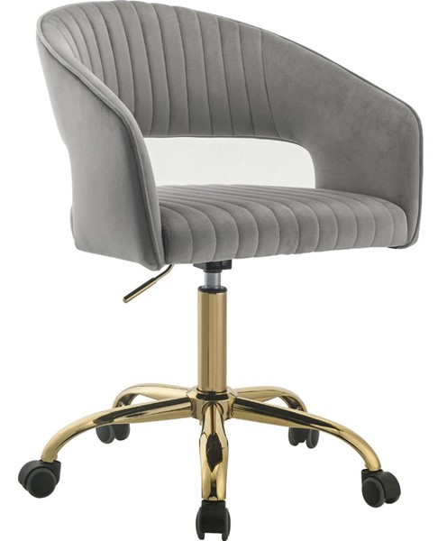 Acme Furniture Hopi Gray Gold Office Chair ACM-92940