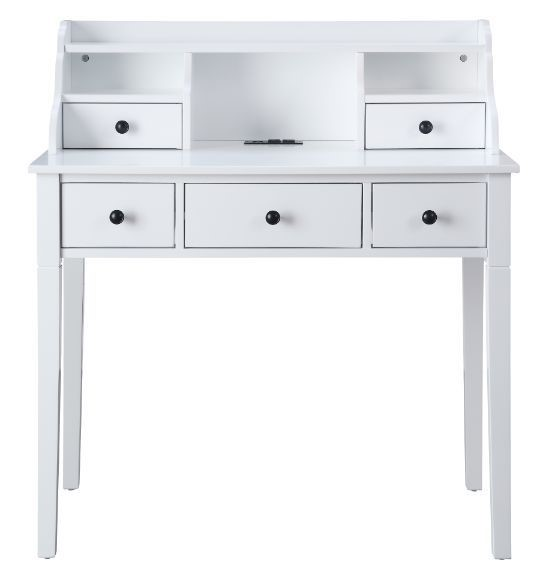Acme Furniture Agia White Built In USB Port Writing Desk ACM-92987