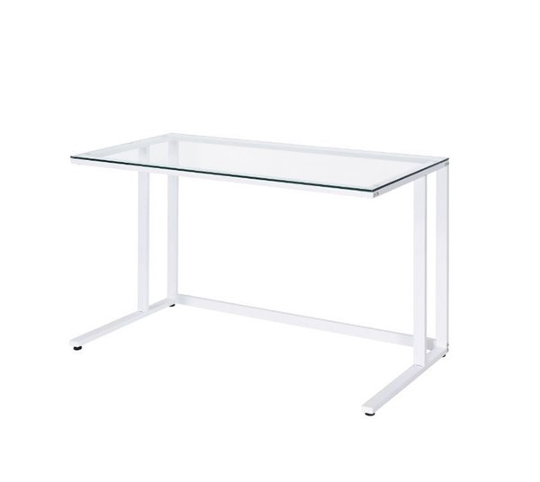 Acme Furniture Tyrese Clear White Writing Desk ACM-93098