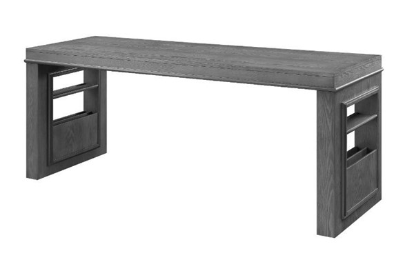 Acme Furniture Vildreir Gray Oak 74 Inch Storage Writing Desk ACM-93150