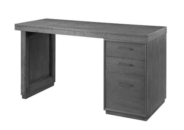Acme Furniture Weisro Gray Oak Writing Desk with Cabinet ACM-93159
