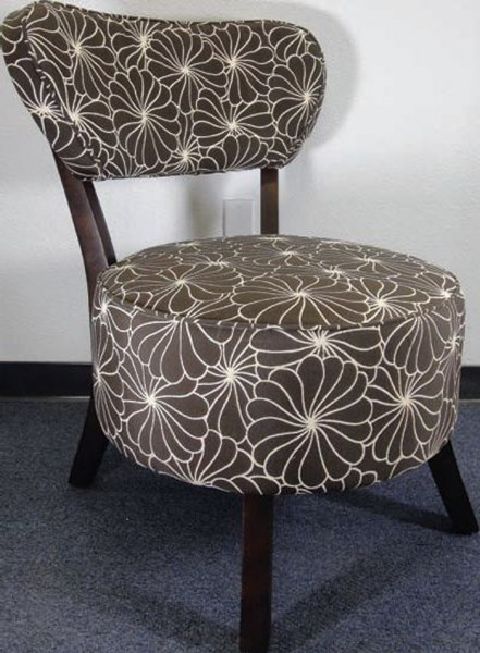 Xeni Fabric Wood Star Texture Accent Chair ACM-96120