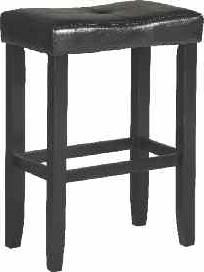 2 Micha Black Wood PU Footrest & Backless Counter Height Stools ACM-96241-VAR