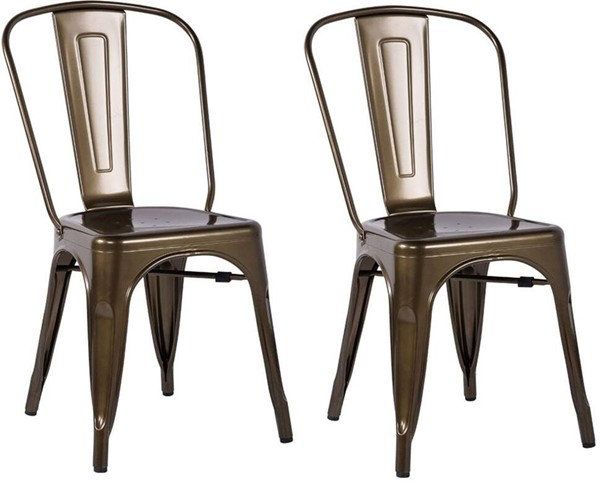 2 Acme Furniture Jakia Bronze Side Chairs ACM-96255