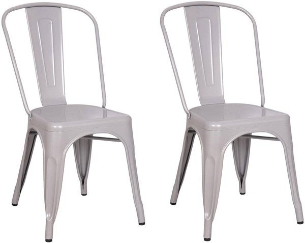 2 Acme Furniture Jakia Silver Side Chairs ACM-96256