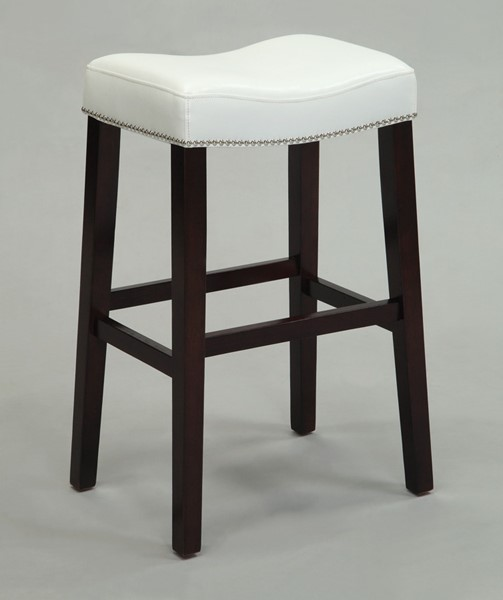 2 Acme Furniture Lewis White Counter Height Stools ACM-96291