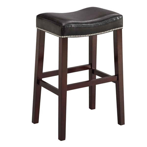 2 Acme Furniture Lewis Black Bar Stools ACM-96294