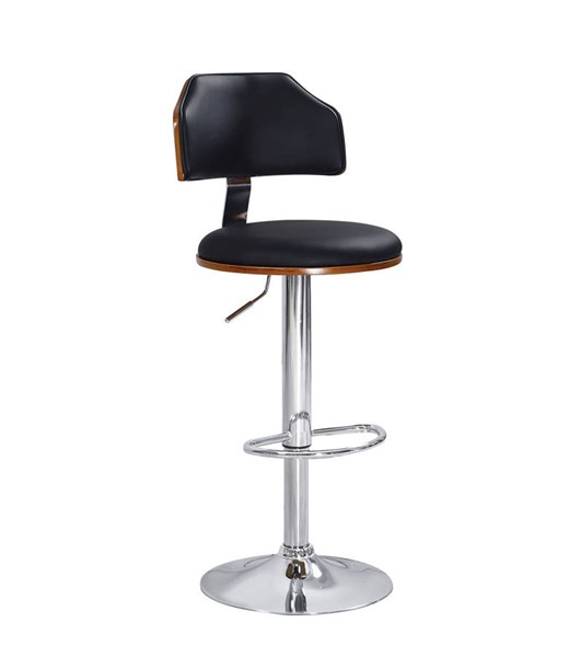 2 Ansel Black Chrome PU Swivel Adjustable Stools ACM-96531