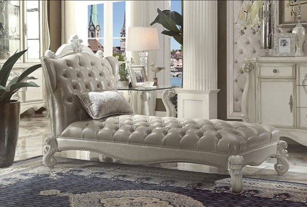 Acme Furniture Versailles PU Chaise with Pillow ACM-96542