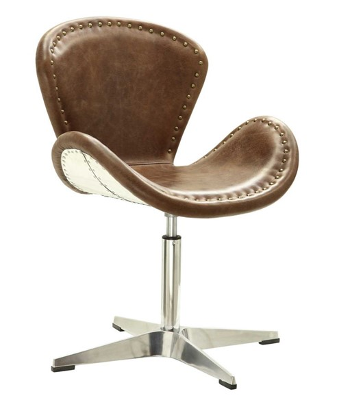 Acme Furniture Brancaster Brown Swivel Accent Chair ACM-96554