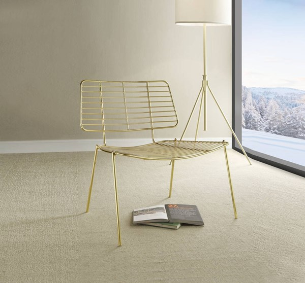 2 Rianne Gold Metal Accent Chairs ACM-96557