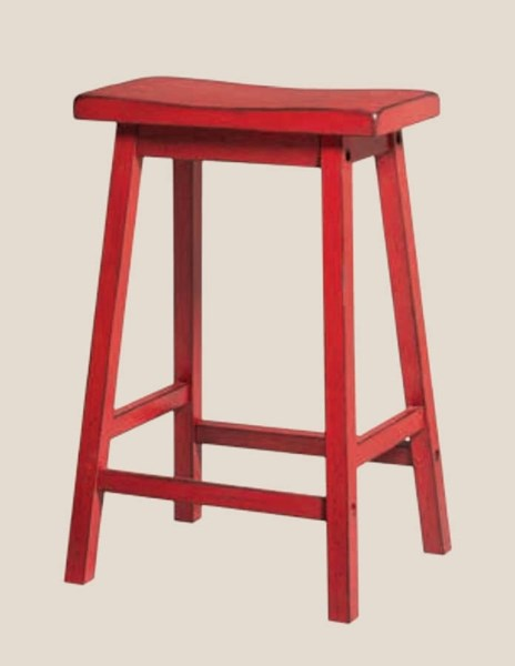 Gaucho Casual Red Green Yellow Oak Rubberwood Counter Height Stools ACM-966-BS-VAR