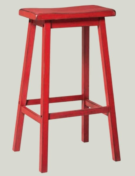 Gaucho Casual Red Green Yellow Oak Rubberwood Bar Stools ACM-966-BS-VAR1