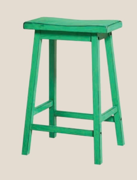 2 Gaucho Casual Antique Green Rubberwood Counter Height Stools ACM-96651