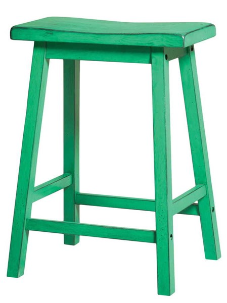2 Acme Furniture Gaucho Antique Green Counter Height Stools ACM-96651