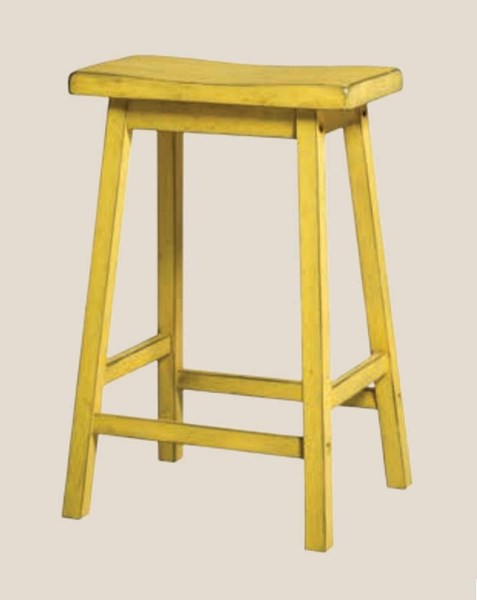 2 Gaucho Casual Antique Yellow Rubberwood Counter Height Stools ACM-96653