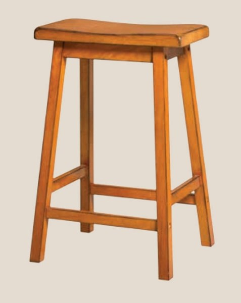 2 Gaucho Casual Antique Oak Rubberwood Counter Height Stools ACM-96655
