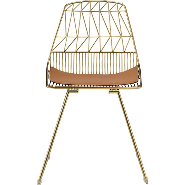 2 Acme Furniture Faina Whiskey Gold Side Chairs ACM-96848