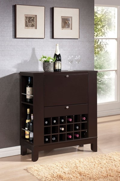 Acme Furniture Nelson Wenge Drawer Wine Cabinet ACM-97010