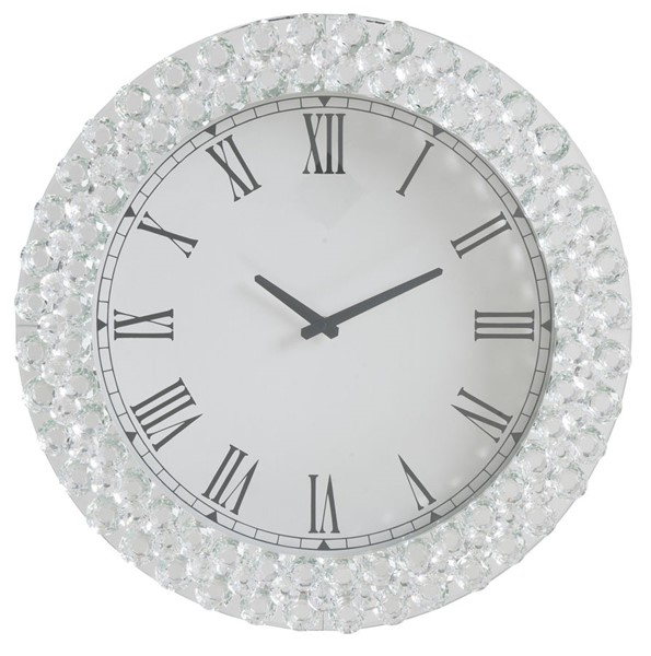 Acme Furniture Nysa White Wall Clock ACM-97045