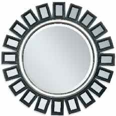 Ferdie Gold Black Silver Round Glass Accent Mirrors W/Frame ACM-FERDIE-VAR