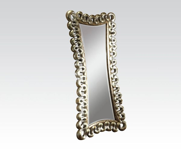 Harac Silver Glass Accent Beveled Mirror ACM-97109