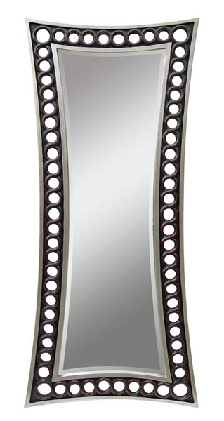 Kaye Silver Coffee Glass Accent Beveled Mirror ACM-97110
