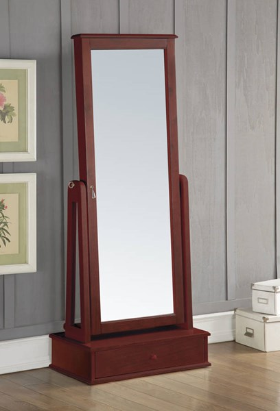 Traci Cherry Solid Wood Glass Jewelry Armoire ACM-97115