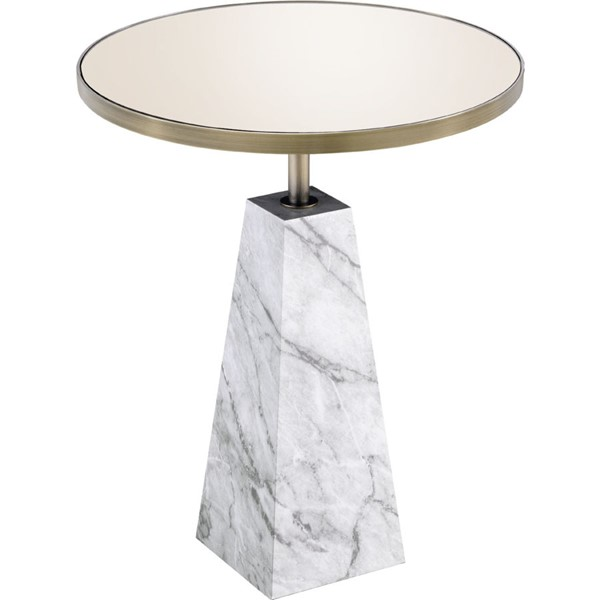 Acme Furniture Galilahi Mirrored Antique Gold Side Table ACM-97129