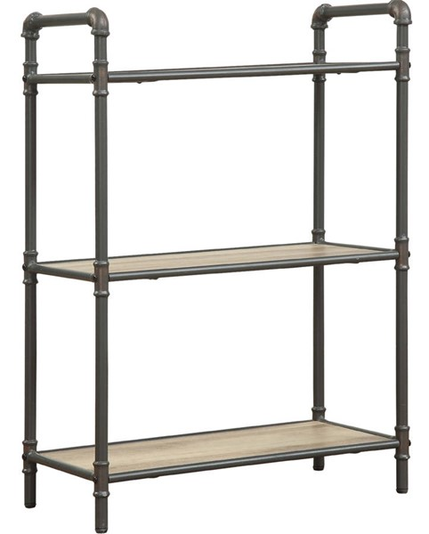 Acme Furniture Itzel Antique Oak Sandy Gray 3 Shelves Bookshelf ACM-97162