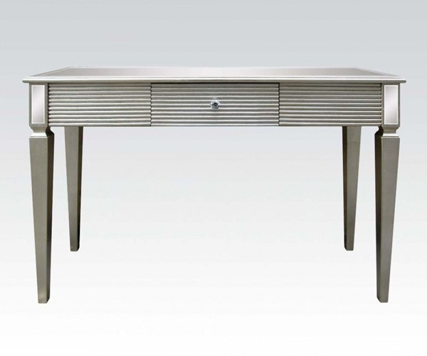 Shannon Silver Wood Glass Console Table w/Drawer ACM-97231