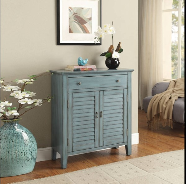 Winchell Antique Blue Wood MDF Console Table ACM-97247