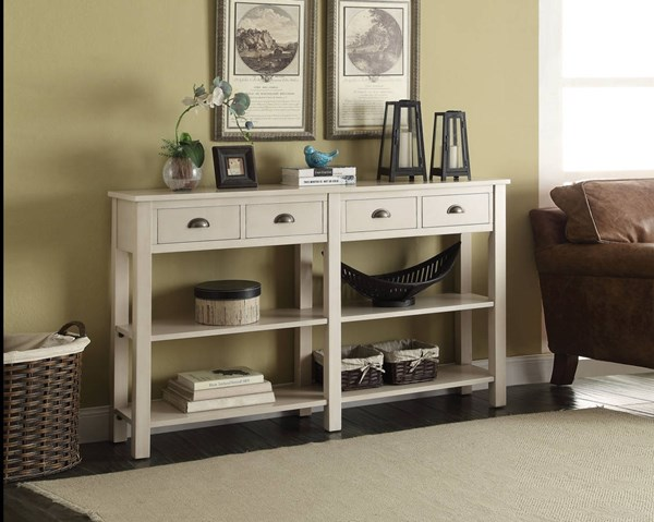 Acme Furniture Galileo Cream 4 Drawers Console Table ACM-97249