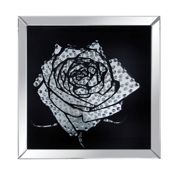 Acme Furniture Nevina Rose Crystals Glass Wall Decor ACM-97320
