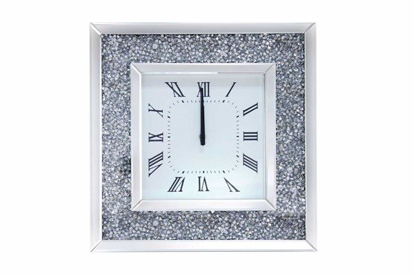 Acme Furniture Noralie Mirrored Black Wall Clock ACM-97395