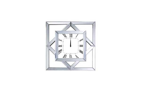 Acme Furniture Mhina Mirrored Black Wall Clock ACM-97397
